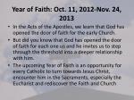 year of faith oct 11 2012 nov 24 2013