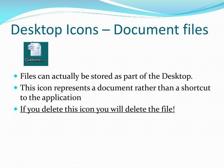 Desktop Icons – Document files