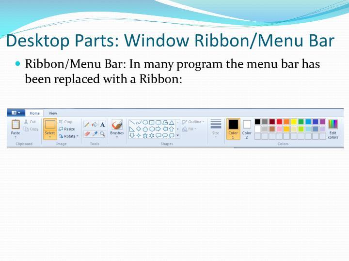 Desktop Parts: Window Ribbon/Menu Bar