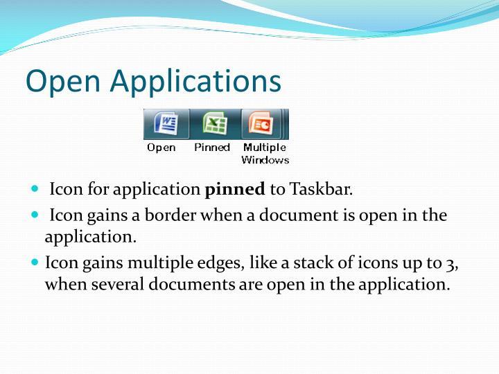 Open Applications