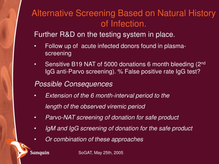 Alternative Screening Based on Natural History of Infection.