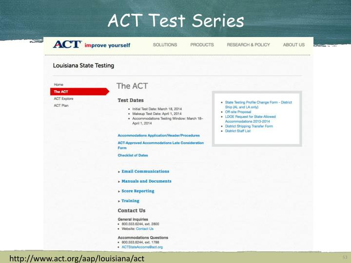 ACT Test Series