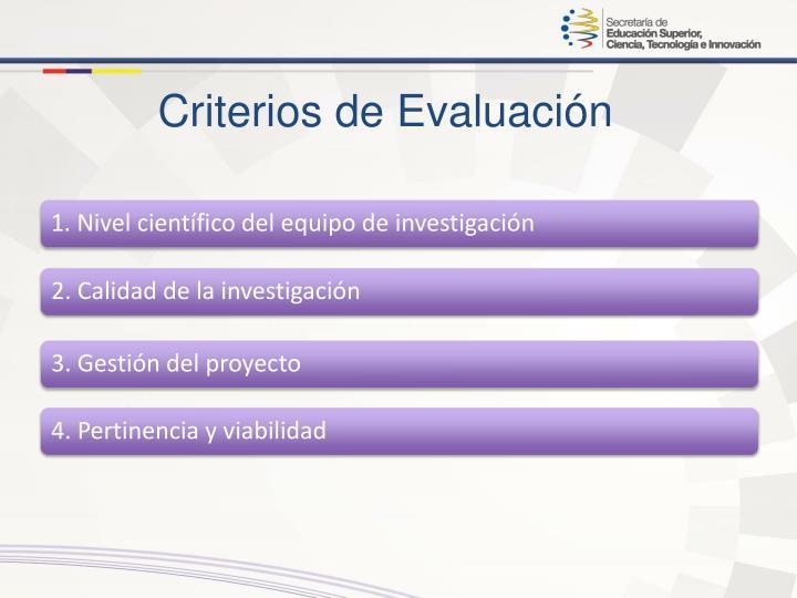 2. Calidad de la investigación