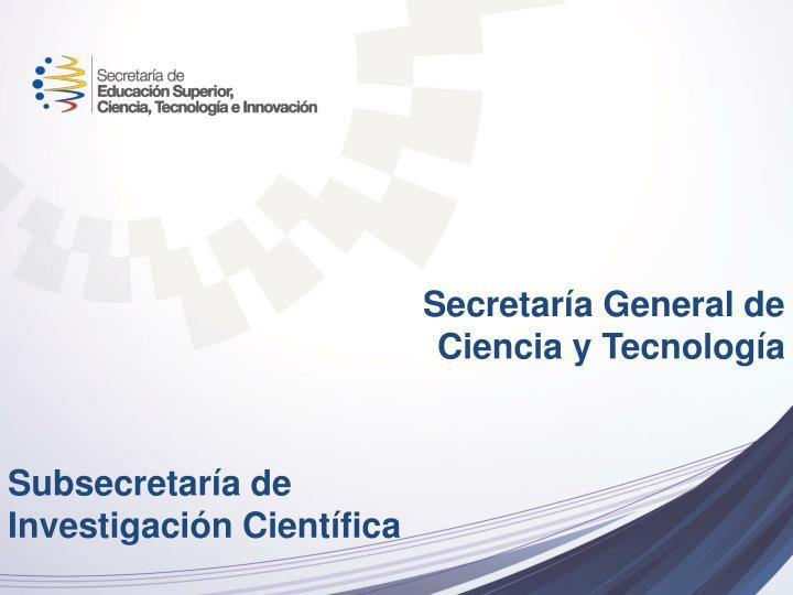 Secretaría General de