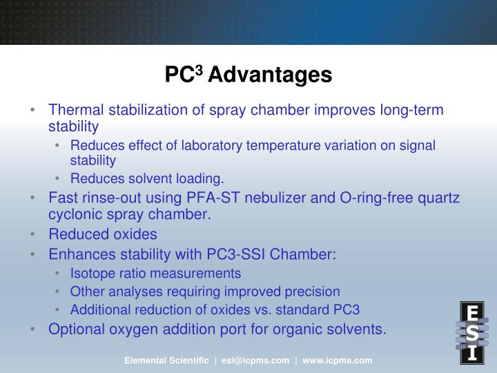 Pc 3 advantages