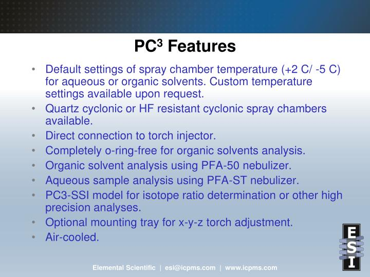 Pc 3 features
