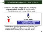pembersihan portofolio non halal
