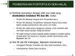 pembersihan portofolio non halal1