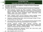 penerbitan saham reksa dana syariah