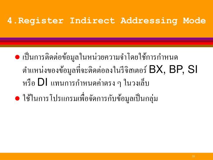 4.Register Indirect