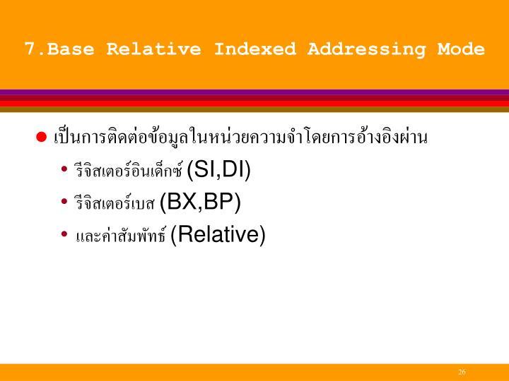 7.Base Relative Indexed