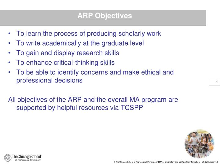 To learn the process of producing scholarly work