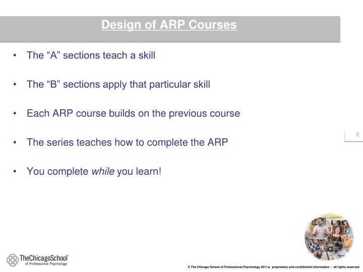 Design of ARP Courses