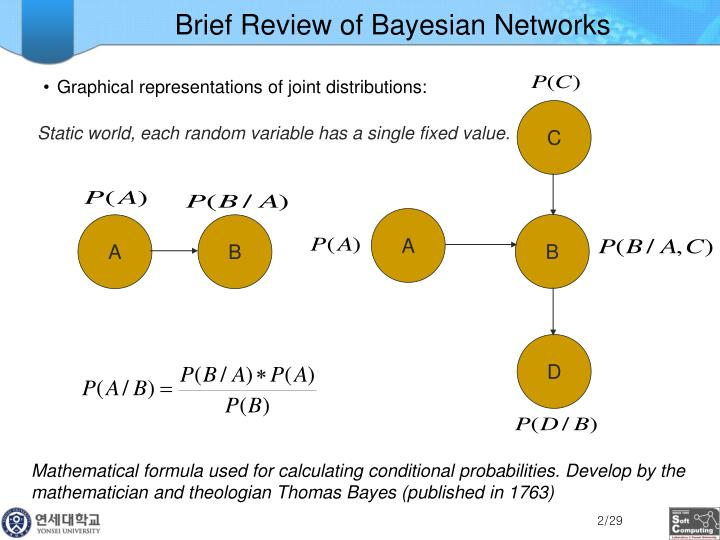 Brief review of bayesian networks
