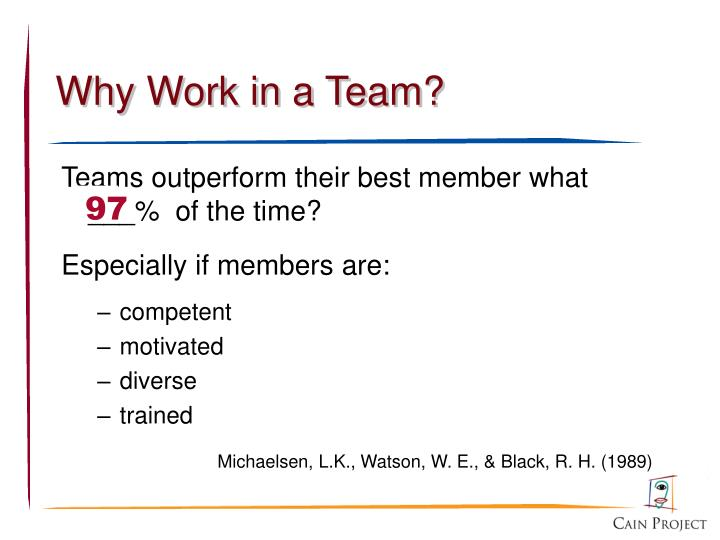 Why work in a team