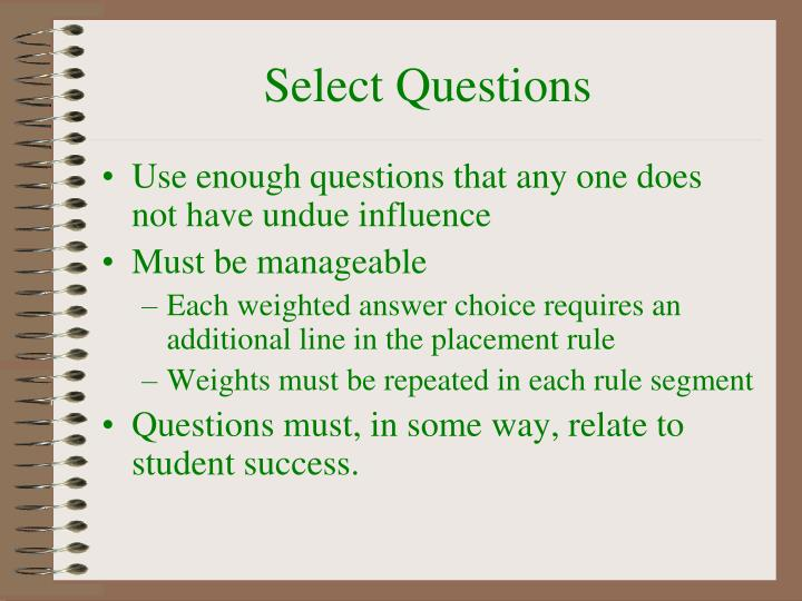Select Questions