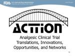 analgesic clinical trial translations innovations opportunities and networks