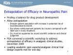 extrapolation of efficacy in neuropathic pain