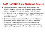 data handling and statistical analysis