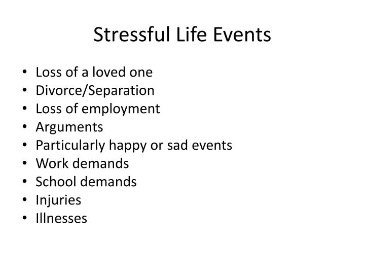 Stressful Life Events