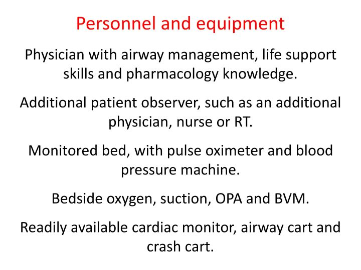 Personnel and equipment