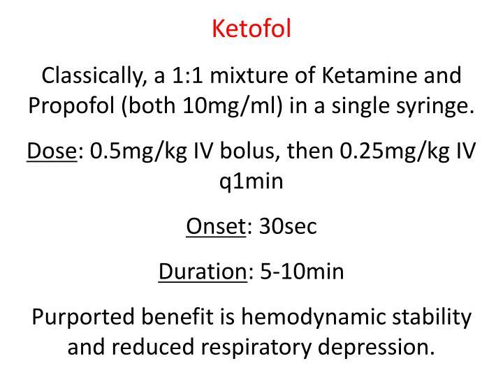 Ketofol