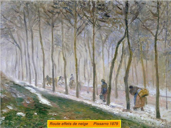 Route effets de neige     Pissarro 1879