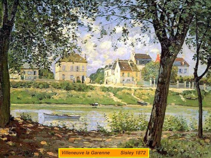 Villeneuve la Garenne        Sisley 1872