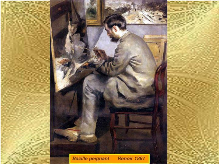Bazille peignant      Renoir 1867