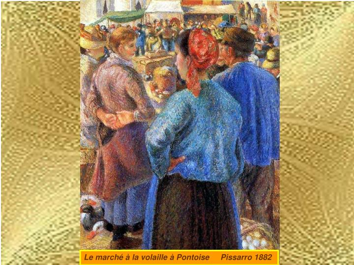 Le marché à la volaille à Pontoise     Pissarro 1882