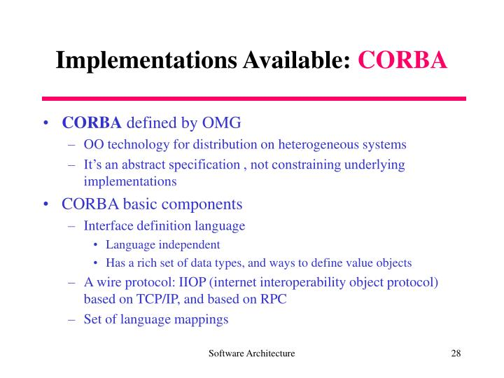 Implementations Available: