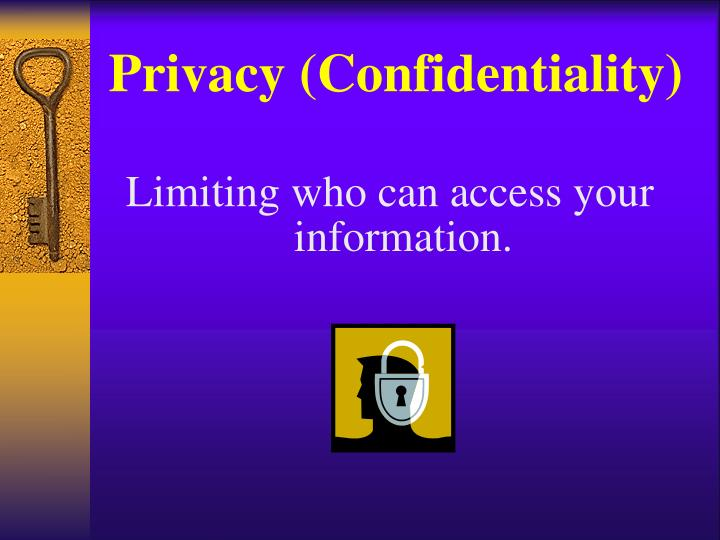 Privacy (Confidentiality)