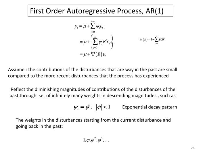 First Order Autoregressive Process, AR(1)