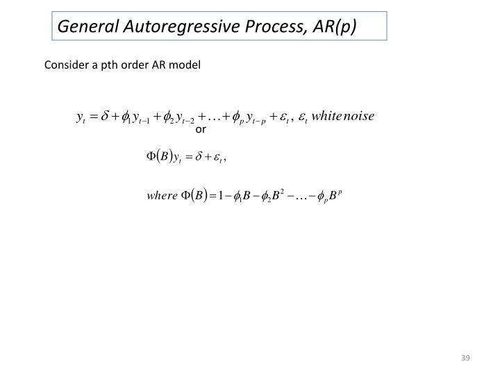 General Autoregressive Process, AR(p)