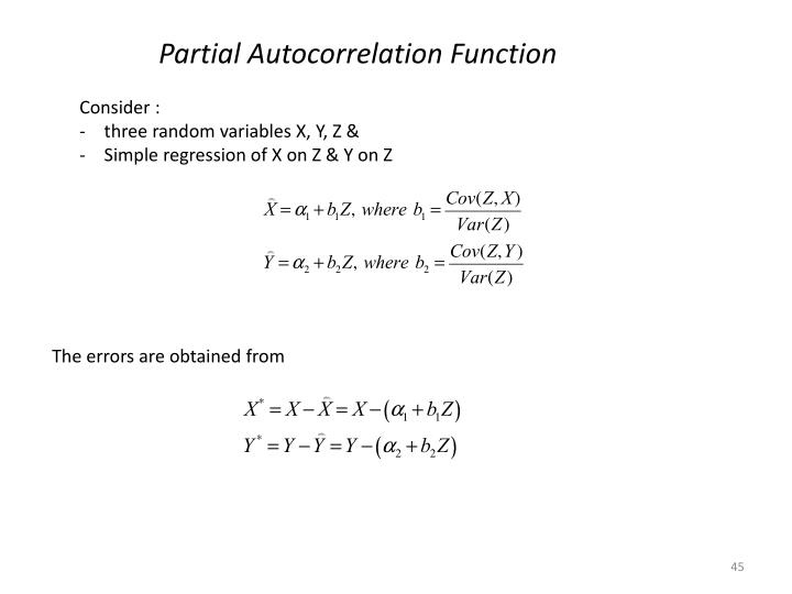 Partial Autocorrelation Function