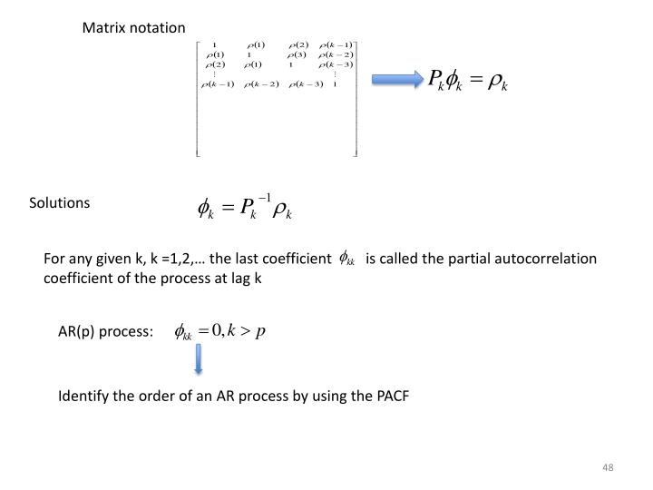 Matrix notation