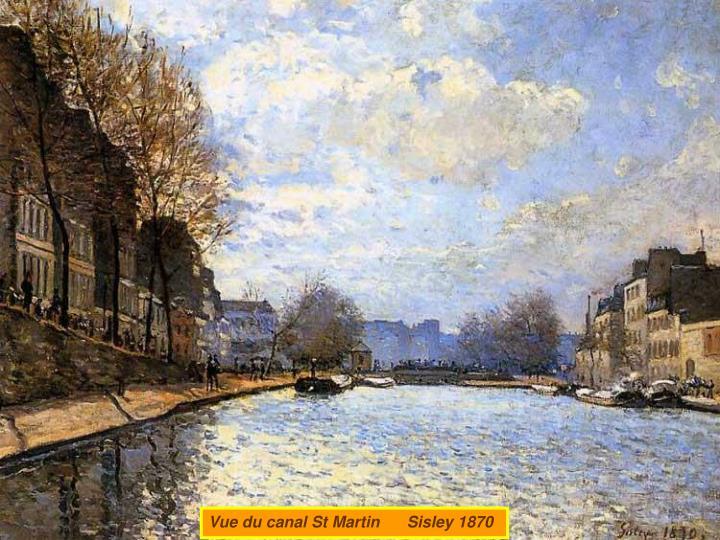 Vue du canal St Martin      Sisley 1870