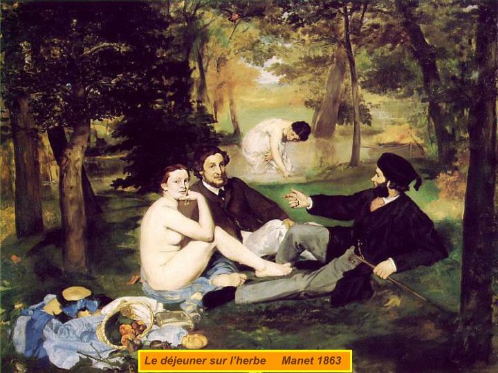 Le déjeuner sur l'herbe     Manet 1863
