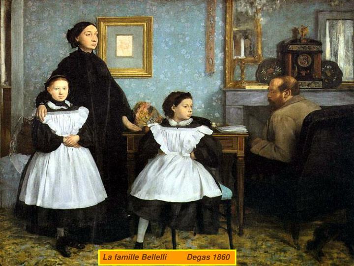 La famille Bellelli         Degas 1860