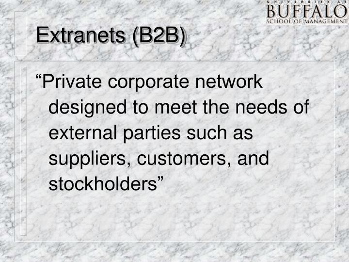 Extranets (B2B)