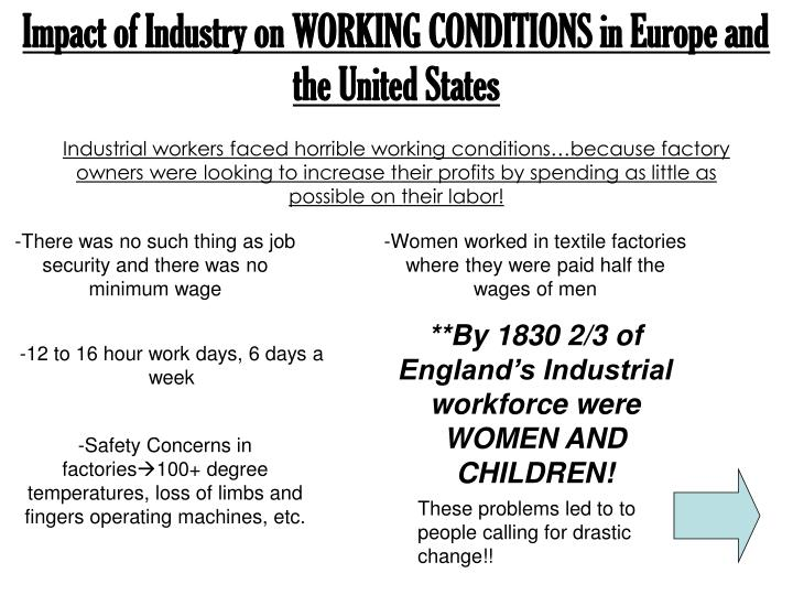 the impact of the industrial revolution on france and england The industrial revolution made manufacturing this started in england with the health and morals of apprentices negative effects of the industrial revolution.
