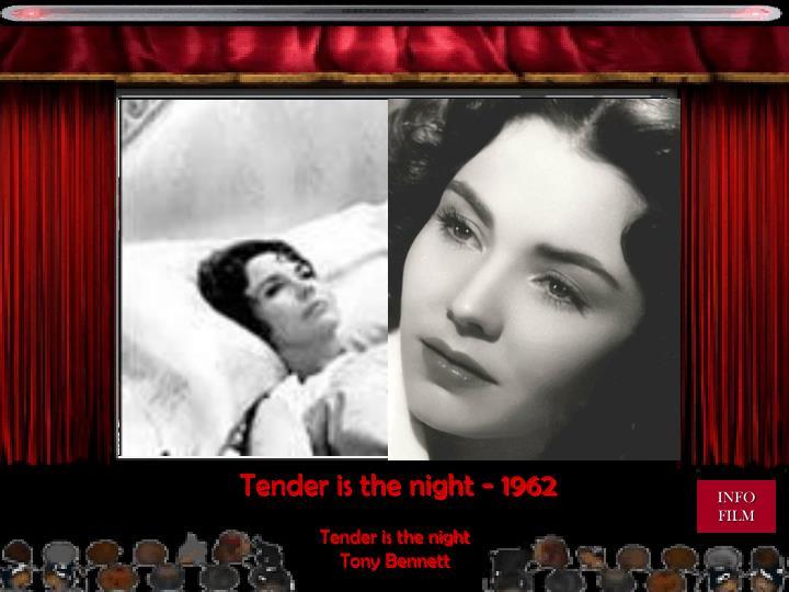 Tender is the night - 1962