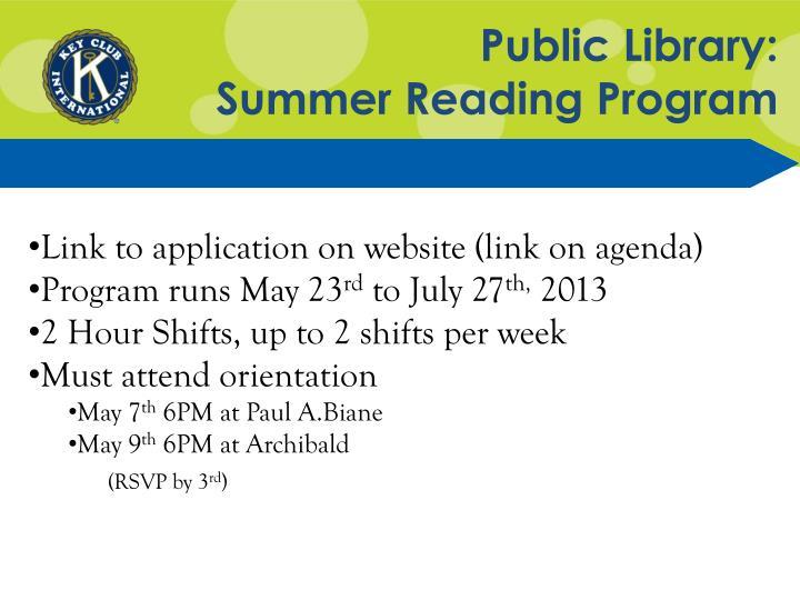 Public Library: