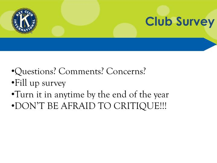 Club Survey
