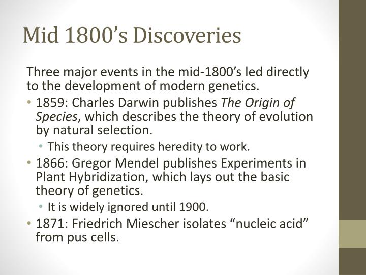 Mid 1800's Discoveries