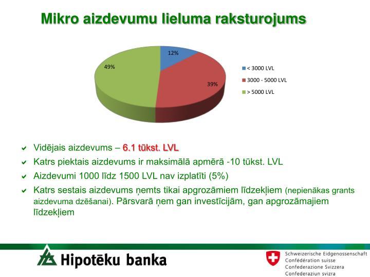 Mikro aizdevumu lieluma raksturojums