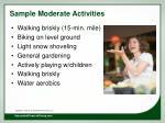 sample moderate activities
