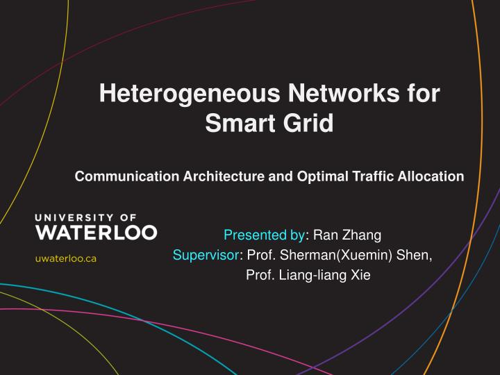 Heterogeneous networks for smart grid communication architecture and optimal traffic allocation