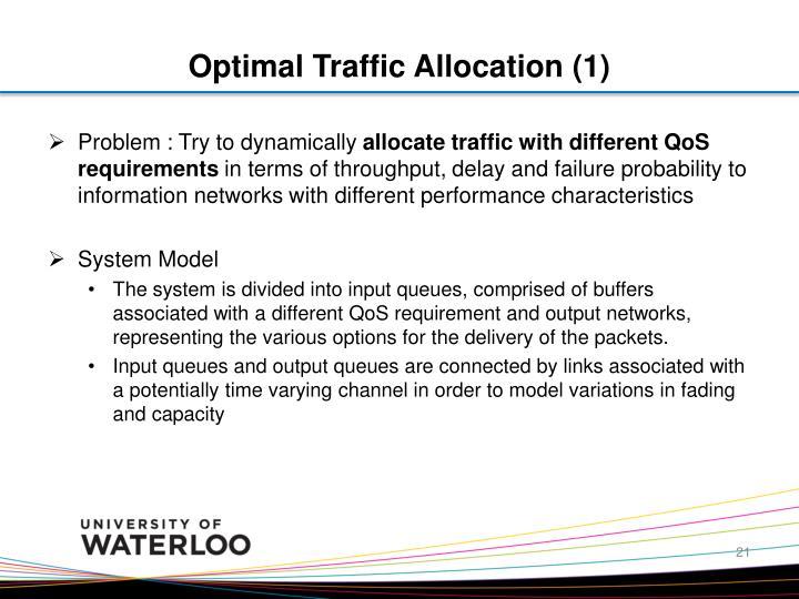 Optimal Traffic Allocation (1)