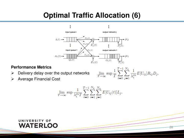 Optimal Traffic Allocation (6)